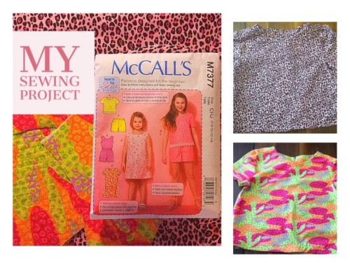 Completed McCall's Pattern M7377 Girls Shirts