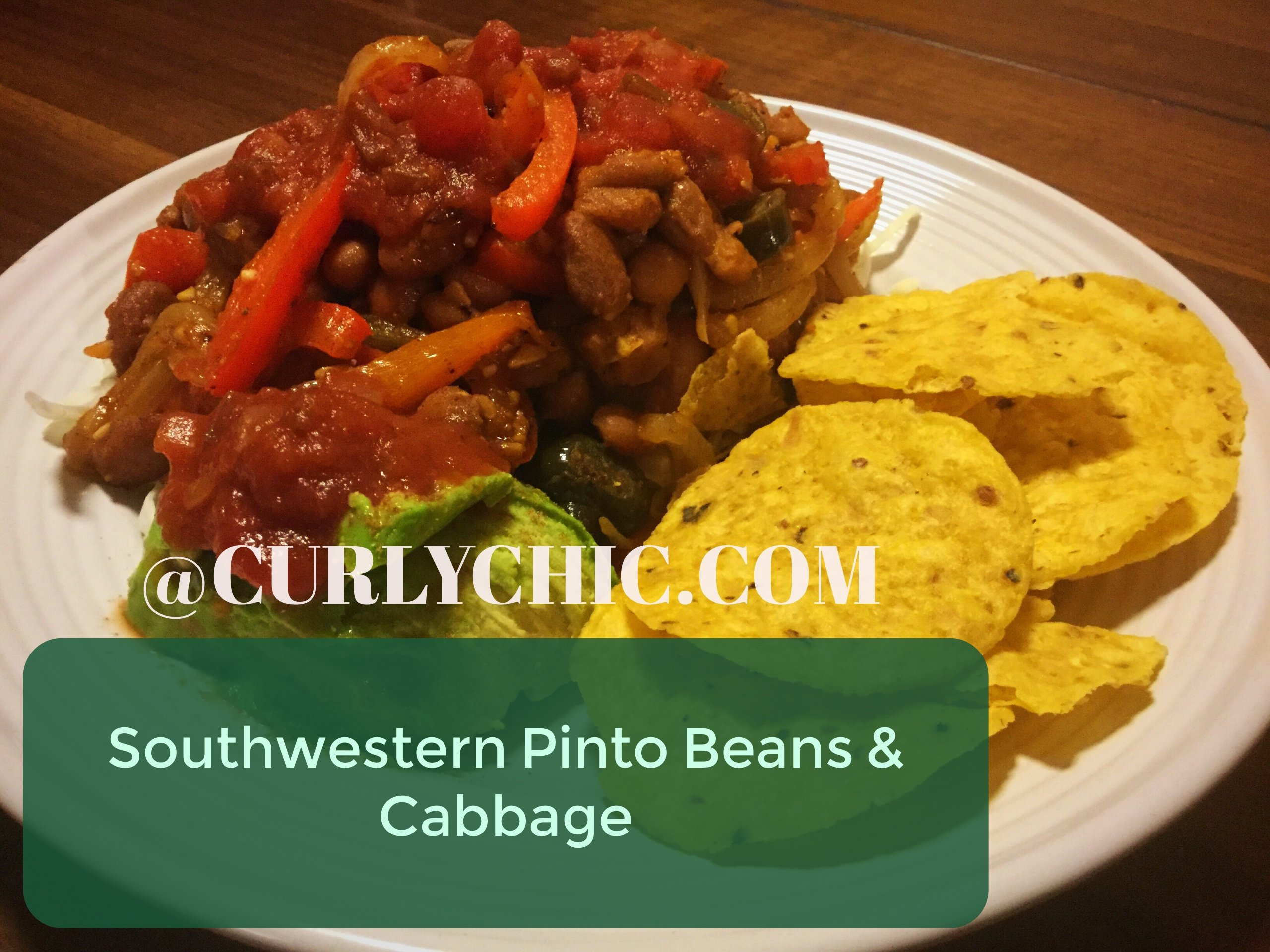 southwestern pinto beans & cabbage recipe