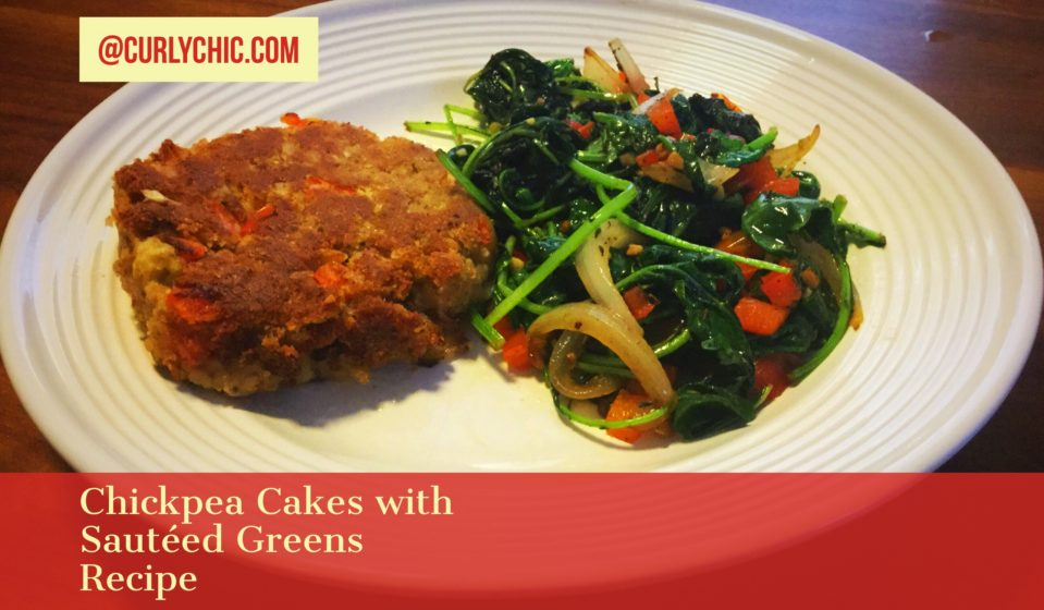 Chickpea Cakes & Sauteed Greens