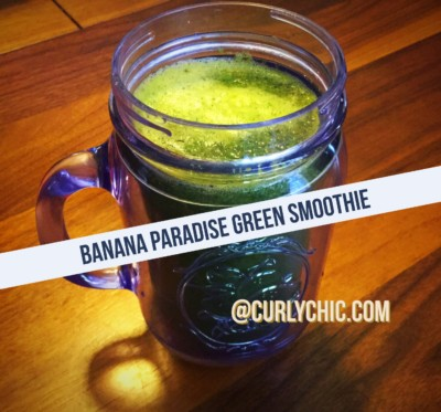 banana paradise green smoothie