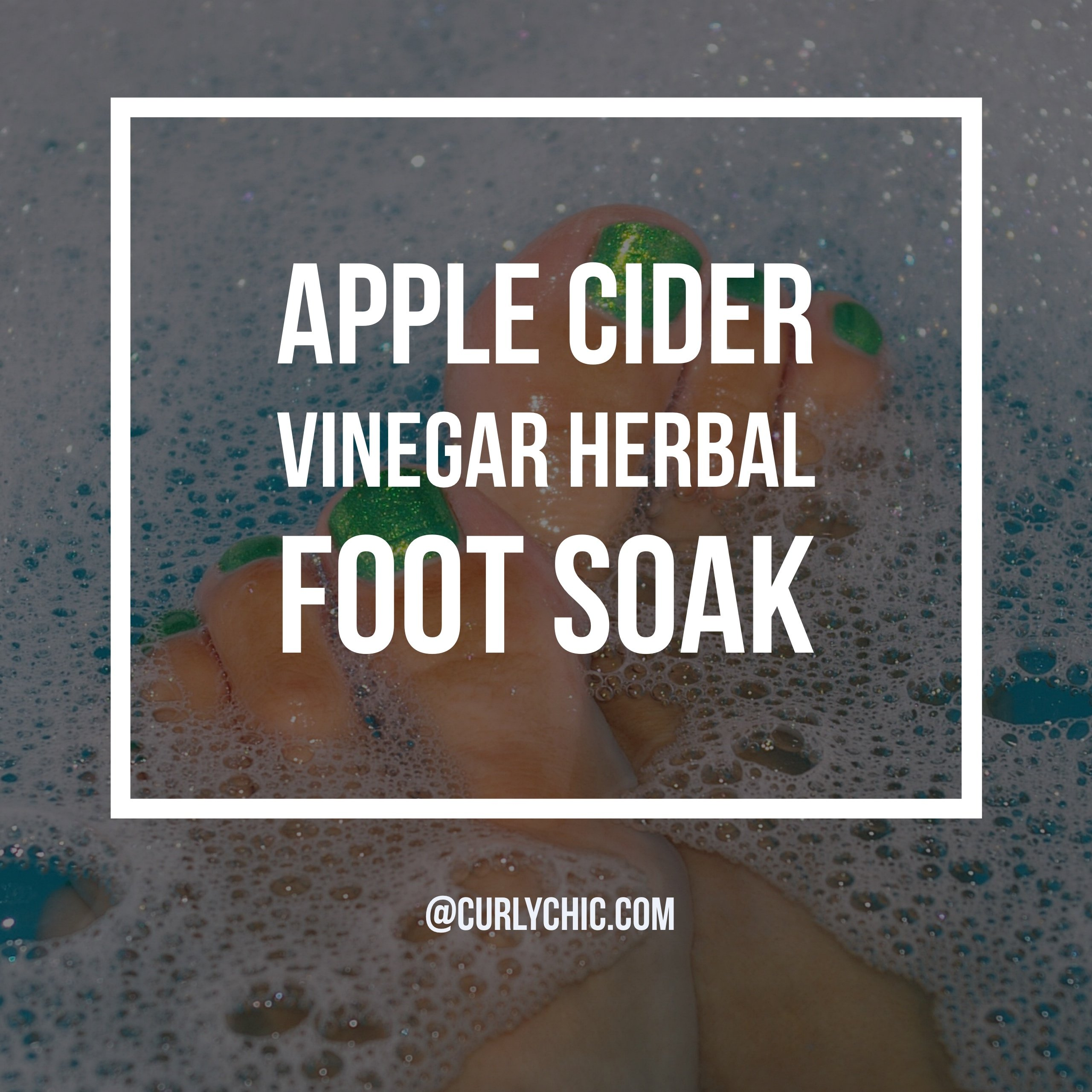 apple cider vinegar foot soak